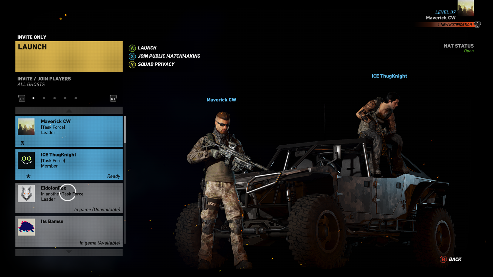 Matchmaking ghost recon wildlands